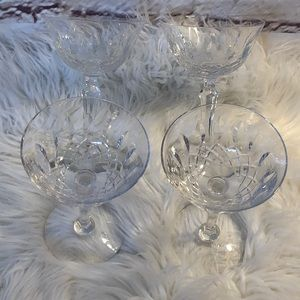 Other - 4 LIKE NEW CRYSTAL WINE GOBLETS